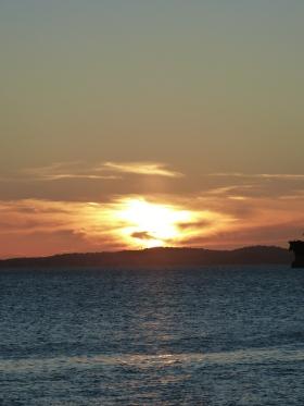Pôr do sol na Ponta de Humaitá Foto: Lílian Almeida