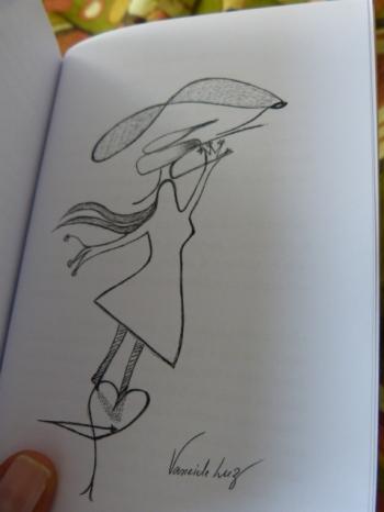 Ilustração de Vaneide Luz para o livro Todas as cartas de amor